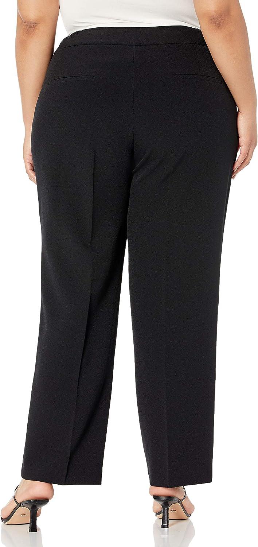 Le Suit Women's Plus Size 1 Button Shawl Collar Basketweave Novelty Slim Pant Suit