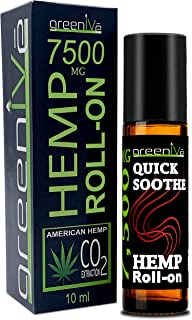 7,500mg Hemp Roll-On Rapid Relief Therapeutic Essential Oil Blend Anti-Inflammatory Pain Relief Muscle Aid C02 Extraction ...