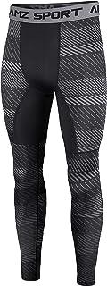 AMZSPORT Mens Sports Compression Tights Quick-Dry Baselayer Leggings Pantaloni da Allenamento PRO