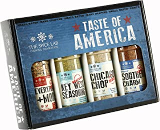 The Spice Lab Taste of America Spices and Seasonings Set - Ultimate Grilling Accessories Set - Perfect Gift Kit - All Arou...