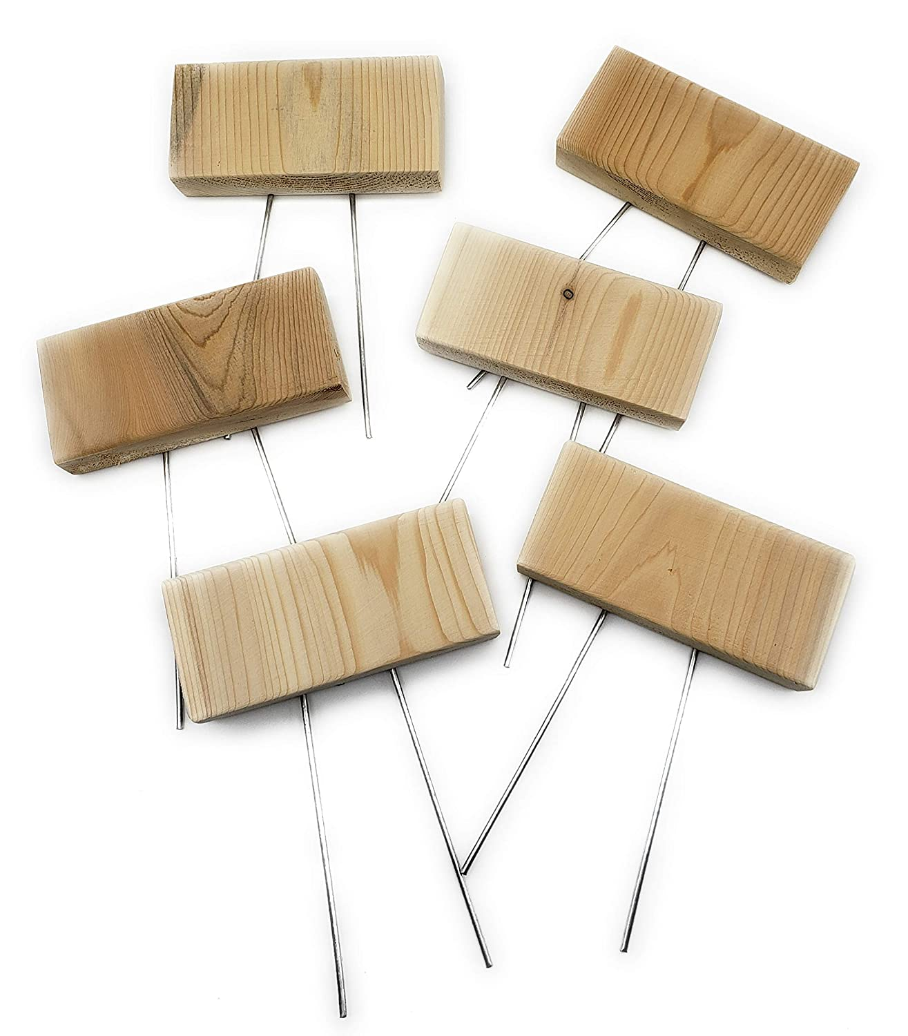 Blank Garden Markers With High order Pins Set of Spasm price 6 M Wood Plant Cedar DIY