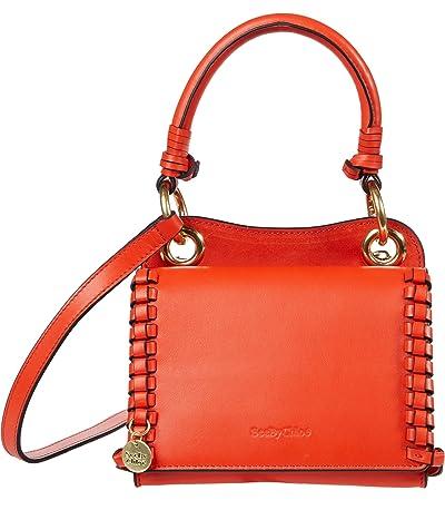 See by Chloe Tilda Mini Crossbody Cross Suede (Happy Orange) Cross Body Handbags