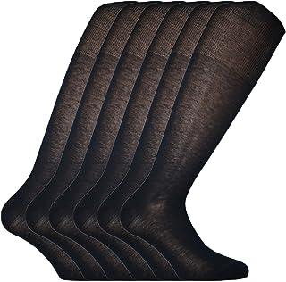 Fontana Calze, 6 paia di calze UOMO lunghe in 100% Cotone Filo di Scozia puro - Leggerissima.