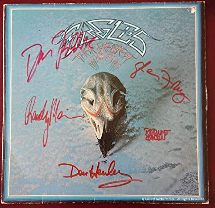 Eagles - Fully Autographed - 'Greatest Hits' Vinyl LP -...