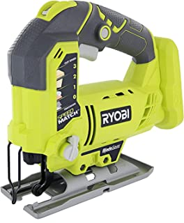 Ryobi One+ P523 18V Lithium Ion Cordless Orbital T Shank 3,000 SPM Jigsaw (Battery Not Included, Power Tool and T Shank Wood Cutting Blade Only)