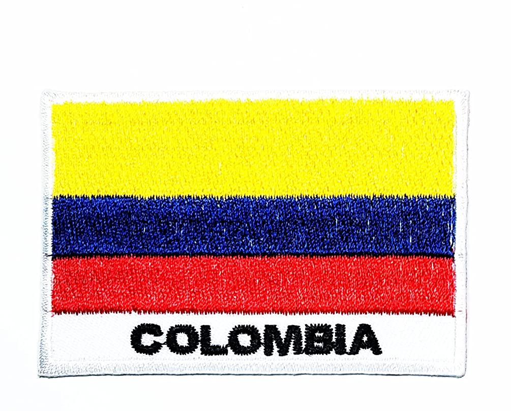 HHO Colombia Country Flag Patch National Flag Patch Embroidered DIY Patches, Applique Sew Iron on for Everyone Craft Patch for Bags Jackets Jeans Clothes Patch Jacket T-Shirt Sew Iron on Costume