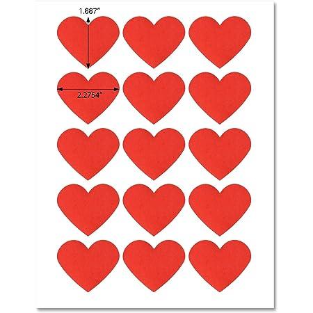 Handmade Heart Crafting Printed Personalised Stickers Mini Self Adhesive Labels