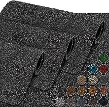 GadHome Waterabsorberende deurmat, antraciet 40 cm x 60 cm   Deurmat voor binnen en buiten   Antislip, wasbare, sneldrogen...