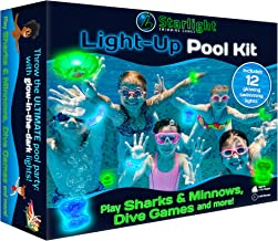 Starlight Swimming Games: The Ultimate Pool Party Kit with Light Up, Glow-in-The-Dark Swimming Games and Pool Toys