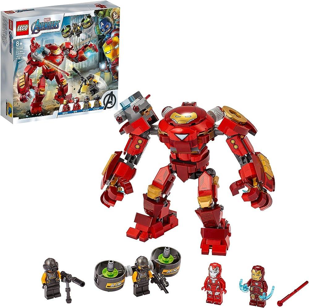 Lego, super heroes iron man hulkbuster,set di costruzioni 76164