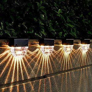 Solar Deck Lights Outdoor Waterproof Led, Deck Lights Solar Powered Outdoor Lights, Solar Step Fence Post Lights for Yard,...