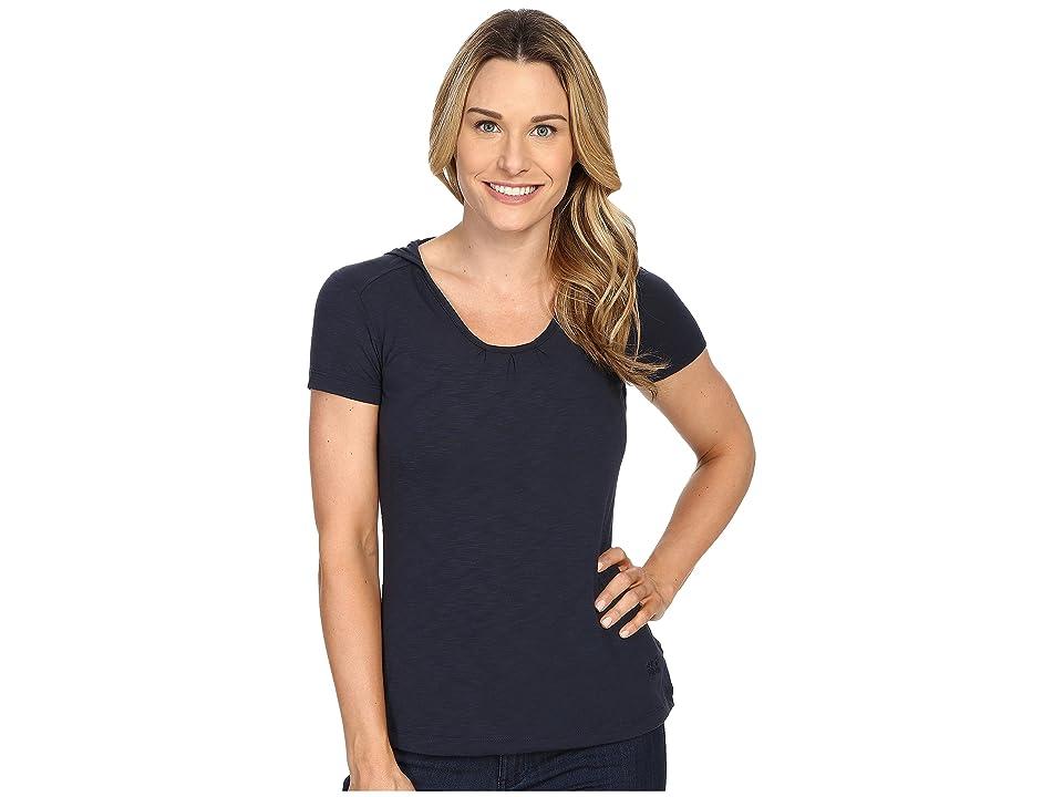 Jack Wolfskin Travel Hoodie T-Shirt (Night Blue) Women