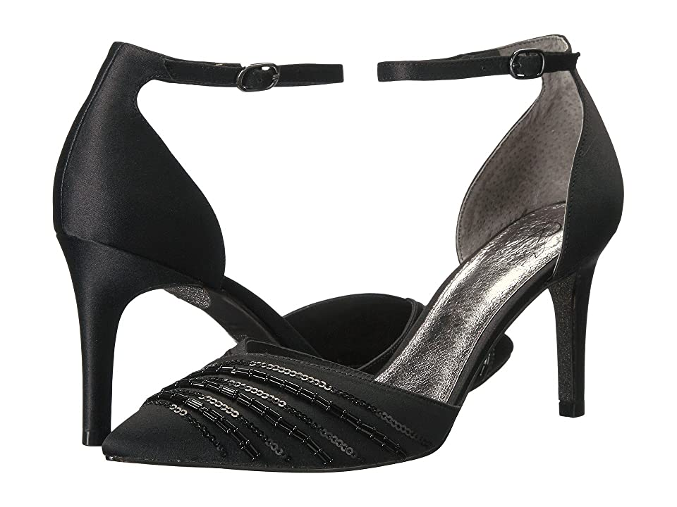 Adrianna Papell Helma (Black Satin) Women's Shoes