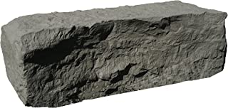 RTS Home Accents Half Armor Stone Landscape Rock, Gray, 41 W x 19 D x 13H