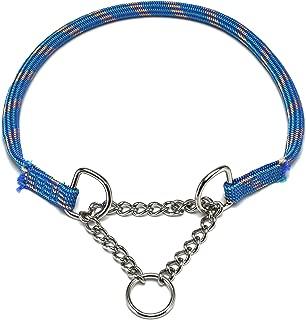 ドッグ・ギア ザイルハーフチョーク首輪 ロープ径10mm ブルー ぴったりサイズ 「ザイルリードとカラーコーディネートできる首輪です」