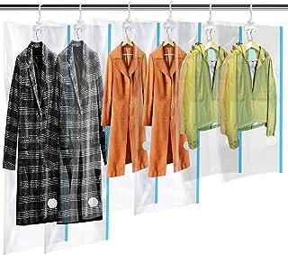 MRS BAG Housse de Rangement sous Vide Suspendu Economiseur d'Espace Sacs de Stockage avec Crochet pour Robe, Costumes, Vêt...