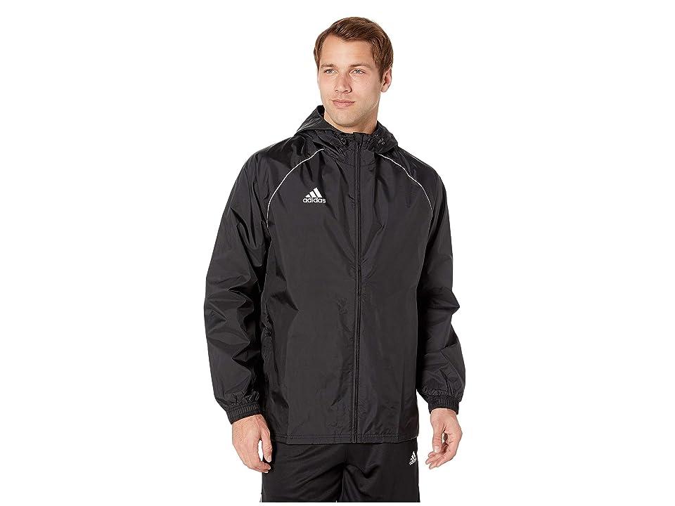 adidas Core18 Rain Jacket (Black/White) Men
