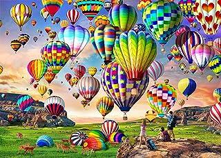 HUADADA Puzzle 1000 Pièces Adultes, Puzzles de Ballon à Air Chaud Convient aux Adolescents Adultes Puzzle Enfant (70x50cm)