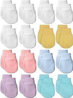 14 Pairs Newborn Baby Mittens Gloves Cotton Infant Toddler No Scratch Mittens for 0-6 Months Baby Boys Girls