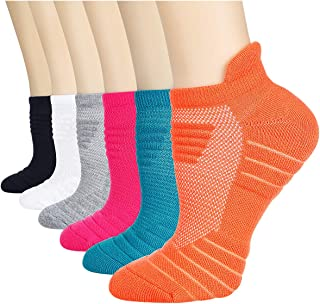 Women's Athletic Ankle Socks Running Cushion Socks 6 Pairs Large Size 10-12