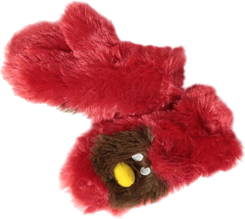 Hatley Little Boys' Fuzzy Fleece Mittens-Cardinal