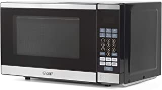 Commercial Chef CHM770SS Countertop Microwave with Stainless Steel Trim, 0.7 Cubic Feet, Black
