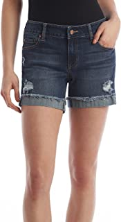 "Celebrity Pink Jeans Women's Celebrity Pink 5"" Mid Rise Fray Cuff Denim Short"