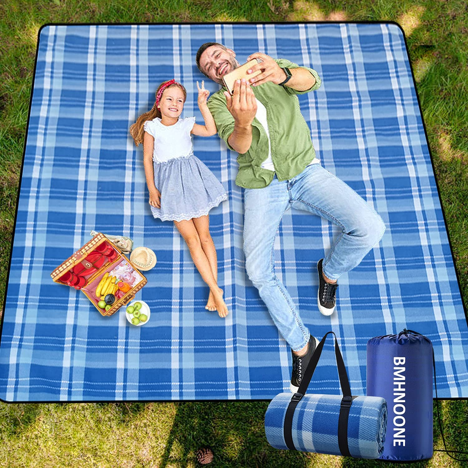 Roll over image to zoom in        BMHNOONE Picnic Blanket,