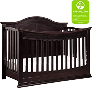 DaVinci Meadow 4-in-1 Convertible Crib with Toddler Bed Conversion Kit in Dark Java | Greenguard Gold Certified