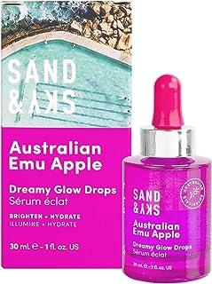 Sand & Sky Australian Emu Apple Dreamy Glow Drops - Bi-Phase Hyaluronic Acid Serum with Vitamin C and Jojoba Oil Facial Se...