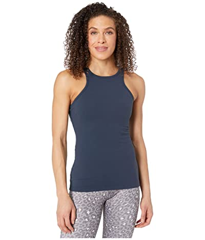 Beyond Yoga Under Lock and Keyhole Tank Top (Nocturnal Navy) Women