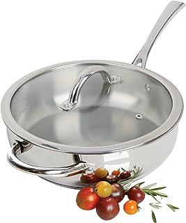"Oster 89470.02 Derrick Stainless Steel Saute Pan, 10"", Saute Pan"