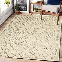 "Rugsville Sharon Geometric Ivory Modern Carpet 5'3"" x 7'9"""