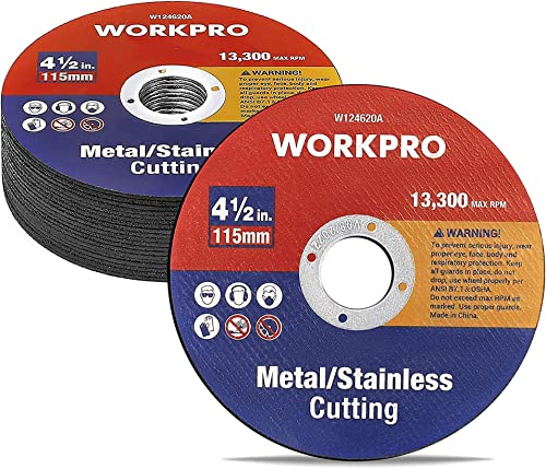discount WORKPRO 20-pack Cut-Off Wheels, 4-1/2 x 7/8-inch discount discount Metal&Stainless Steel Cutting Wheel, Thin Metal Cutting Disc for Angle Grinder online sale