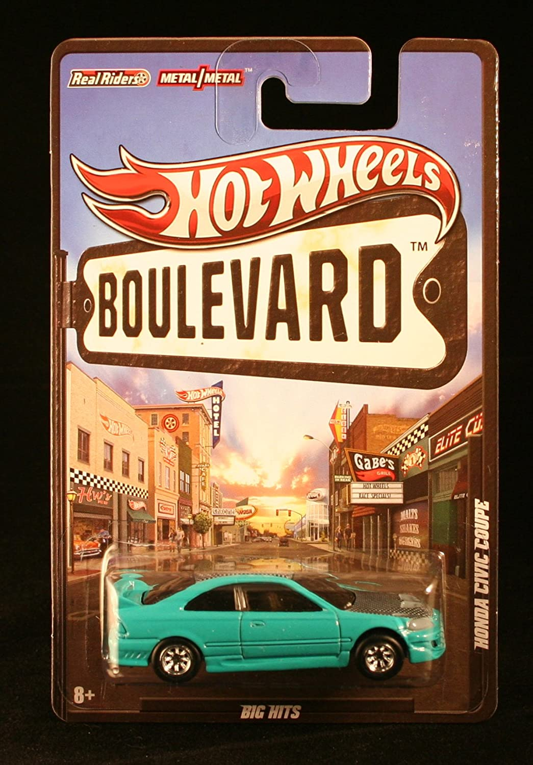 HOT WHEELS BOULEVARD BIG HITS 1 64 SCALE TEAL HONDA CIVIC COUPE DIECAST