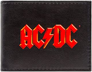 Cartera de AC/DC Music Rock Band logotipo rojo Negro