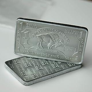 1 oz One Troy Ounce USA American Buffalo .999 Fine Zinc Bullion Bar Zn Element