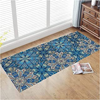 3D Runner Rug for Hallway, Washable Entry Carpet with Anti Slip Backing, Extra Long Floor Pad for Corridor Kitchen Stairca...