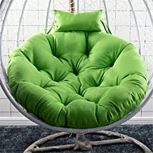 Cushion Hanging Egg Hammock Swing Chair Cushion Chaise Lounger Pad Furniture Patio Lounger Bench Thick Fiber Solid Color,G...