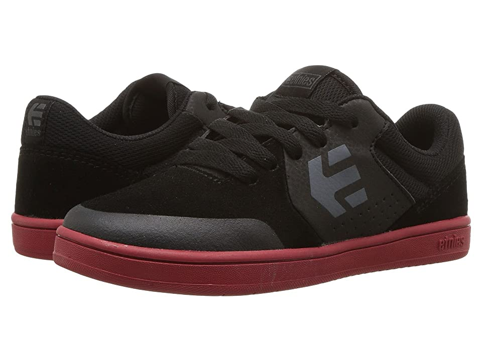 etnies Kids Marana (Toddler/Little Kid/Big Kid) (Black/Black/Red) Boys Shoes