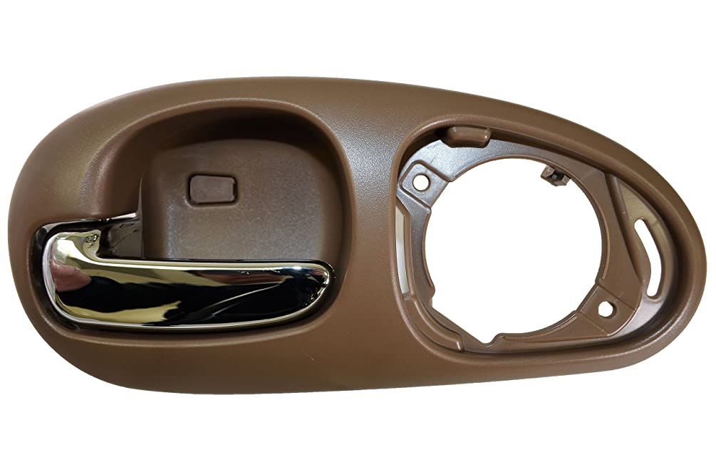 PT Auto Warehouse CH-2334ME-RL - Inside Interior Inner Door Handle, Beige Housing with Chrome Lever - without Speaker Cover, Driver Side Rear