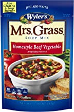 Mrs. Grass Beef Vegetable Hearty Homestyle Soup Mix (7.48 oz Cans, Pack of 8)