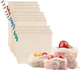 comprar comparacion NEWSTYLE Bolsa de Producción Reutilizable,Juego de 10 Bolsas de Malla Reutilizables Perfectas para Productos Frescos, Frut...