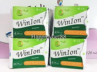 WinIon Anion Sanitary Napkins Pantiliner (4 Packs x 24 Pads) by Winalite Love Moon