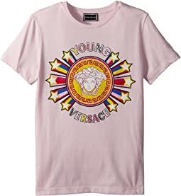 Versace Kids Short Sleeve Tee with Logo Graphic (Big Kids)