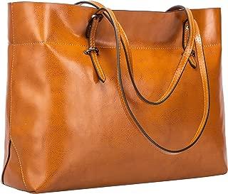 Women's Vintage Genuine Leather Tote Shoulder Bag Handbag Upgraded Version