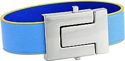 T-Logo Color Block Leather Bracelet