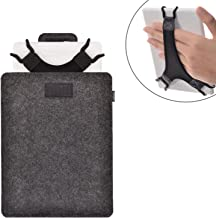 "TFY Protective Carrying Pouch Bag (Dark Grey), Plus Bonus Hand Strap Holder for 6 inch Tablets and E-Readers, fits Fire HD 6"" – Kindle/Kindle Paperwhite/Kindle Voyage and Other 6"" E-Readers"