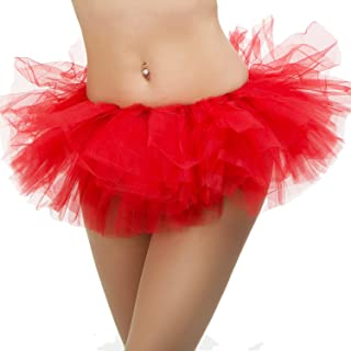 Tutu Ballet Skirt with 5 Layers of Tulle - One Size Fits All- Waist Sizes 26-50
