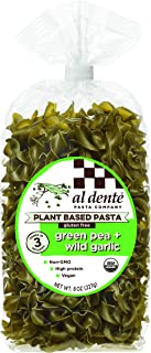 Al Dente Plant Based Pasta Green Pea + Wild Garlic, 8 Ounce (Pack of 6)